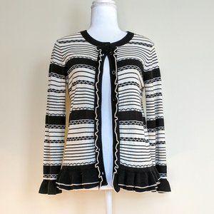 Kate Spade Ruffle Cardigan Sweater Small